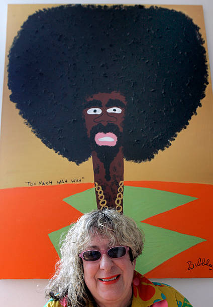 Allee Willis and one of her paintings. Willis, a Grammy Award ...