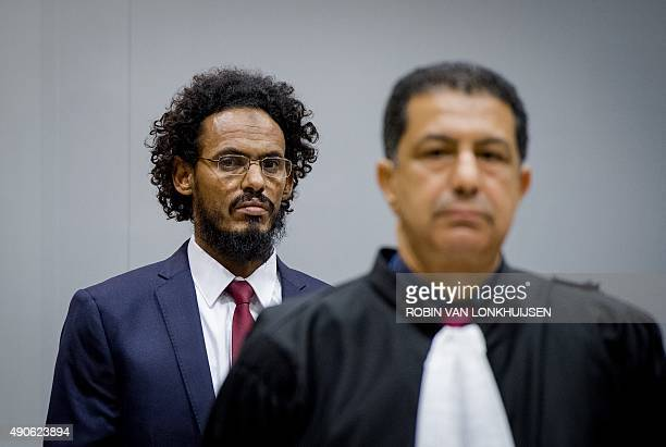 Alleged AlQaedalinked Islamist leader Ahmad Faqi Al Mahdi looks on in the courtroom of the International Criminal Court on September 30 in The Hague...