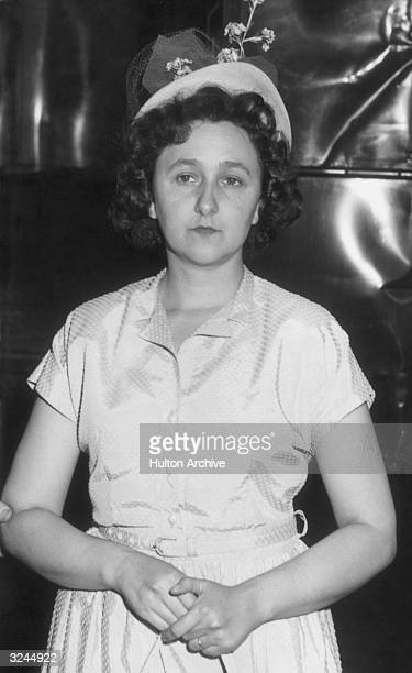 Alleged American spy Ethel Greenglass Rosenberg at her arraignment New York She and her husband Julius Rosenberg were convicted of espionage and...