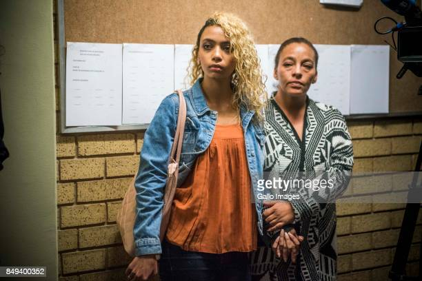Alleged assault victim Gabriella Engels and her mother Debbie at the North Gauteng High Court during AfriForums request for courts permission to cite...