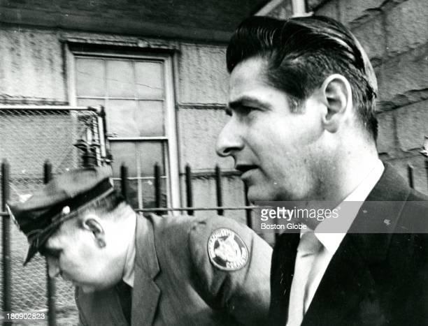 Alleged Boston Strangler Albert DeSalvo arrives for trial at East Cambridge court Jan 18 1967 He was sentenced to life in prison