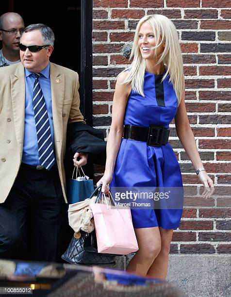 Alleged White House party crashers Tareq Salahi and Michaele Salahi visit Late Show With David Letterman at the Ed Sullivan Theater on May 25 2010 in...