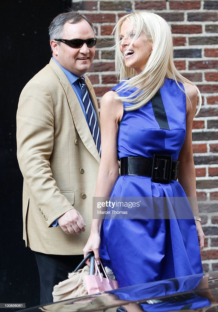 Alleged White House party crashers Tareq Salahi and Michaele Salahi visit 'Late Show With David Letterman' at the Ed Sullivan Theater on May 25, 2010 in New York City.