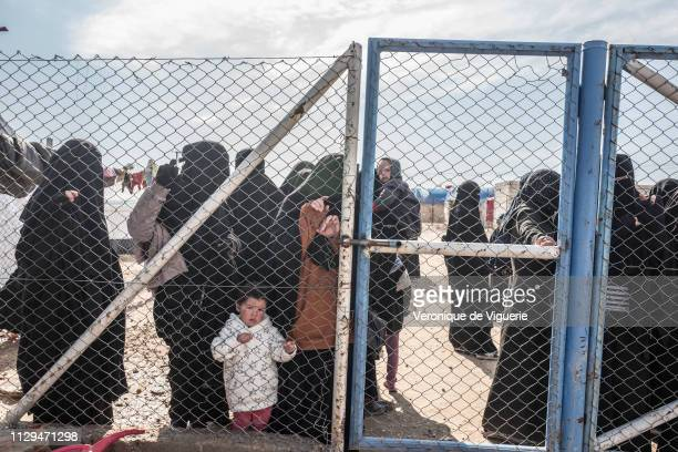 Alleged wives of ISIS fighters are confined to a separate section of alHawl refugee camp in northeast Syria where most civilians arrive after fleeing...