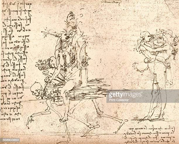 Allegorical composition c1472c1519 From The Literary Works of Leonardo Da Vinci Vol 1 by Jean Paul Richter PH DR [Sampson Low Marston Searle...