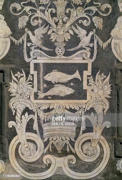 Allegorical figures and zodiacal signs by Giorgio Vasari Tommaso Battista del Verrocchio and Alessandro Forzori Palazzo dei Cavalieri or Palazzo...