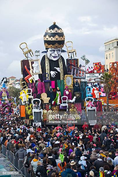 Allegorical float during a Mardi Gras parade in Italy