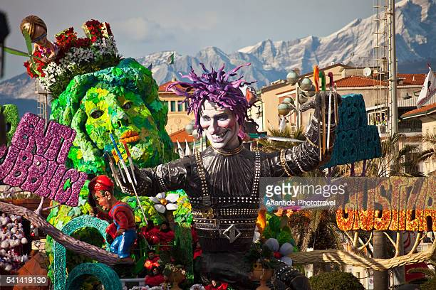 Allegorical float in a carnival parade, Viareggio, Italy