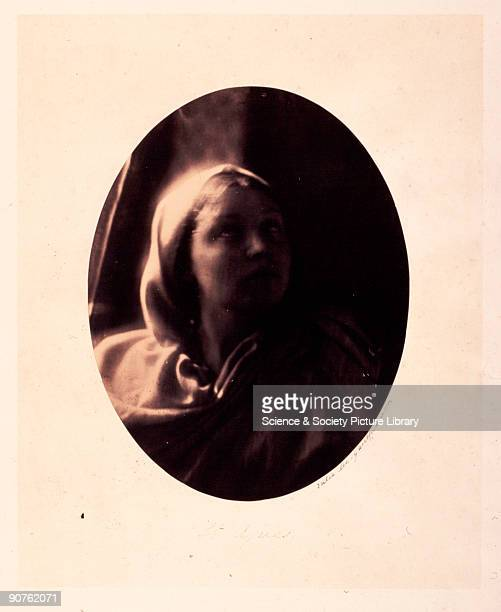 Allegorical portrait of Mary Ann Hillier by Julia Margaret Cameron . Cameron's photographic portraits are considered among the finest in the early...