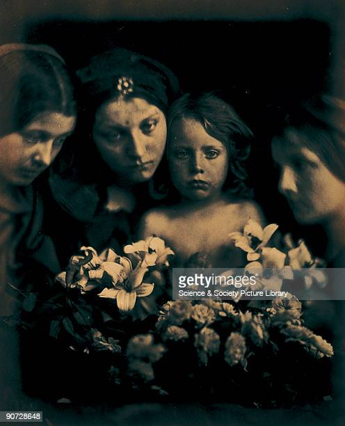 Allegorical portrait of Mary Ann Hillier with children by Julia Margaret Cameron Cameron's photographic portraits are considered among the finest in...
