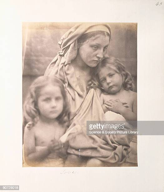 Allegorical portrait of the Madonna and child by Julia Margaret Cameron The model used for the Madonna was one of Cameron's maids Mary Ann Hillier...