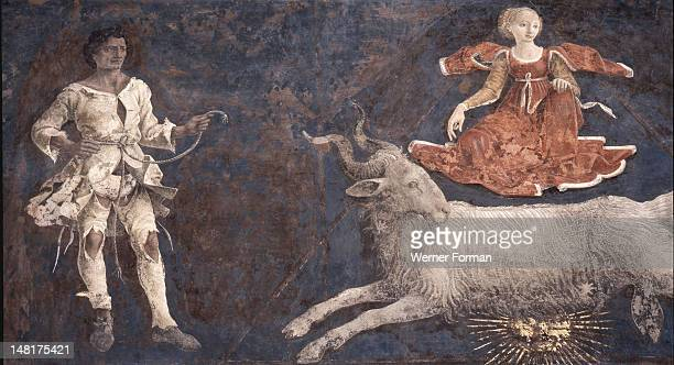 Allegorical representation of the signs of the zodiac from the 'Palace of Joy' by Francesco Cossa The Schifanoia Palazzo was built as a hunting lodge...