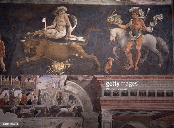 Allegorical representation of the signs of the zodiac from the 'Palace of Joy' by Francesco del Cossa The Schifanoia Palazzo was built as a hunting...