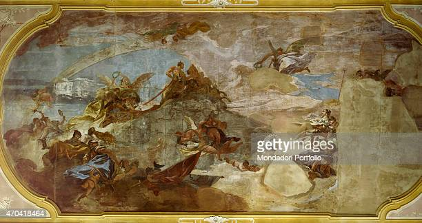 'Allegorical Scene by Costantino Cedini c 1775 18th Century fresco Italy Veneto Padua Palazzo Maldura Whole artwork view Fresco on the ceiling with...