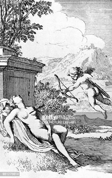 Allegorical scene Canto III Adonis heroic poem by Giambattista Marino engraving printed by Elsevier 1678