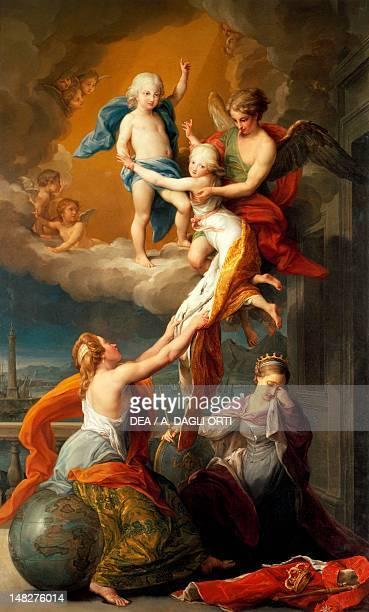 Allegory for the death of Ferdinand IV's two children by Pompeo Batoni Caserta Reggia Di Caserta Palazzo Reale