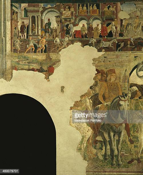 Hunting Contests Borso d'Este and the Fool Scocola by Francesco del Cossa 1469 1470 15th Century fresco