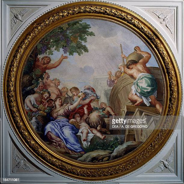 Allegory of Autumn, fresco by Carlo Maratta and Ciro Ferri , Villa Falconieri La Rufina, Frascati. Italy, 17th century.