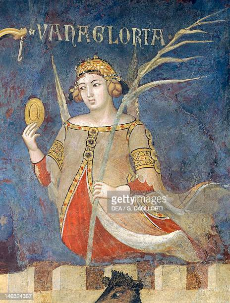 Allegory of Bad Government vainglory detail from the Allegory and effects of good and bad government in town and country 13371343 by Ambrogio...