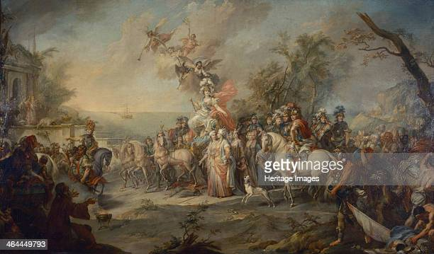 Allegory of Catherine the Greats Victory over the Turks and Tatars 1772 Found in the collection of the State Tretyakov Gallery Moscow