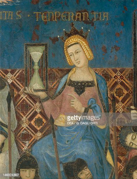 Allegory of Good Government Temperance detail from the Allegory and Effects of Good and Bad Government on Town and Country 13371343 by Ambrogio...