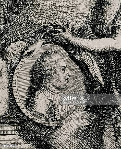 Allegory of Johann Christian Bach being crowned by the Genius of Music Detail Vienna Gesellschaft Der Musikfreunde