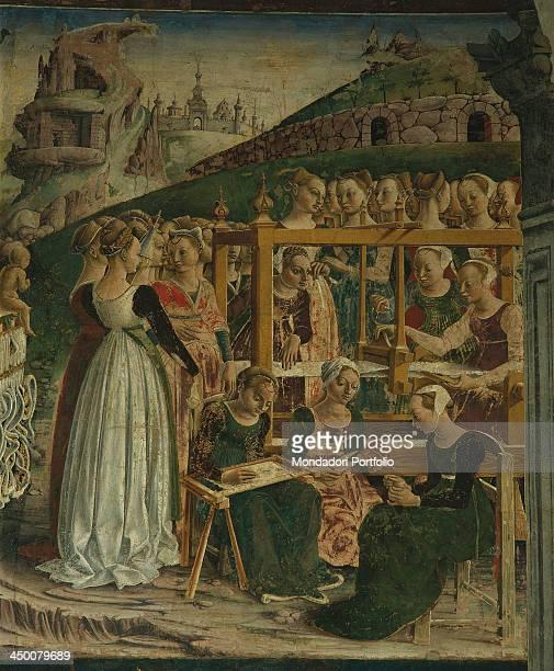 Triumph of Minerva by Francesco del Cossa 1469 1470 15th Century fresco