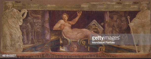 Allegory of Peace by Lelio Orsi 16th Century fresco Italy Emilia Romagna Modena Estense Gallery Whole artwork view Fragment of a decorative frieze...