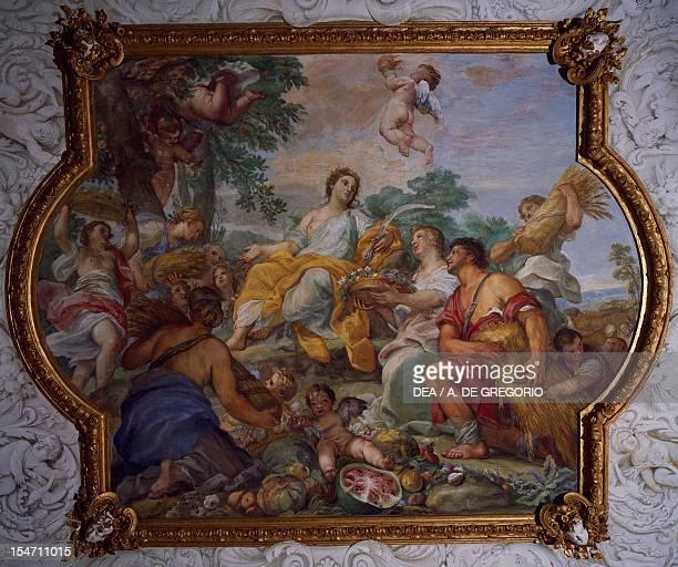 Allegory of Summer fresco by Carlo Maratta and Ciro Ferri Villa Falconieri La Rufina Frascati Italy 17th century