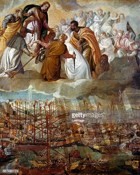 Allegory of the Battle of Lepanto 7th October 1571 Painting by Paolo Veronese 169x137 cms Galleria dell' Accademia Venice Italy