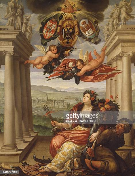 Allegory of the Holy Alliance work of a Venetian painter 17th Century Venice Museo Correr