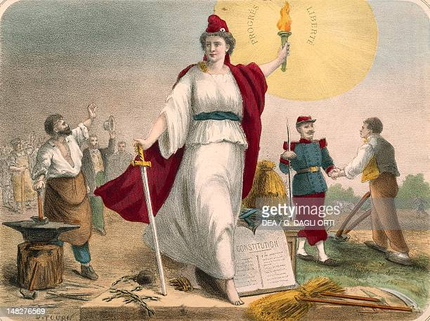 Allegory of the Republic print France 19th Century Paris Hôtel Carnavalet