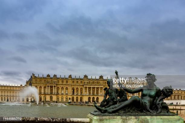 Allegory of the river Marne, bronze statue designed by Charles Le Brun and fused by the Keller brothers, 1687-1694, water basin called Parterre d'eau...