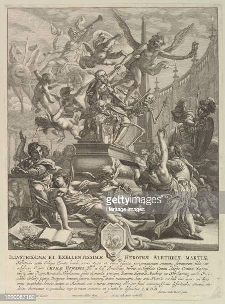 Allegory on the Death of the Earl of Arundel circa 1646 Artist Wenceslaus Hollar