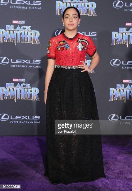 Allegra Acosta attends the Los Angeles Premiere 'Black Panther' at Dolby Theatre on January 29 2018 in Hollywood California