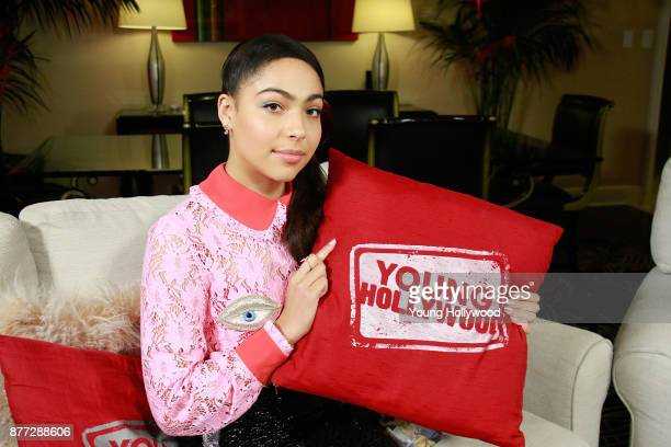 Allegra Acosta from Marvel's Runaways visits the Young Hollywood Studio on November 21 2017 in Los Angeles California