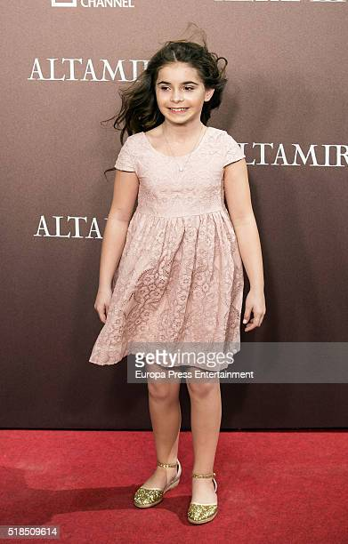 Allegra Allen attends 'Altamira' premiere at Callao cinema on March 31 2016 in Madrid Spain