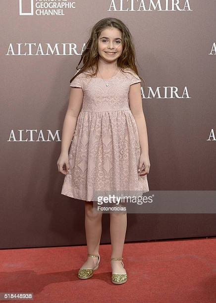Allegra Allen attends the 'Altamira' premiere at Callao Cinema on March 31 2016 in Madrid Spain