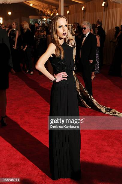 Allegra Beck attends the Costume Institute Gala for the PUNK Chaos to Couture exhibition at the Metropolitan Museum of Art on May 6 2013 in New York...