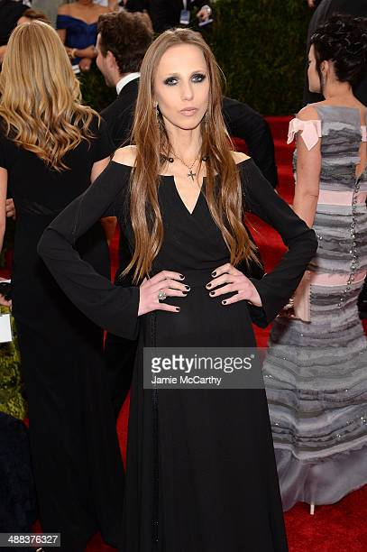 Allegra Beck Versace attends the 'Charles James Beyond Fashion' Costume Institute Gala at the Metropolitan Museum of Art on May 5 2014 in New York...
