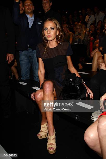 Allegra Beck Versace attends the Versace Spring/Summer 2011 fashion show during Milan Fashion Week on September 24 2010 in Milan Italy