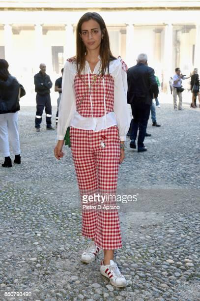 Allegra Benini attends the Vivetta show during Milan Fashion Week Spring/Summer 2018 on September 21 2017 in Milan Italy