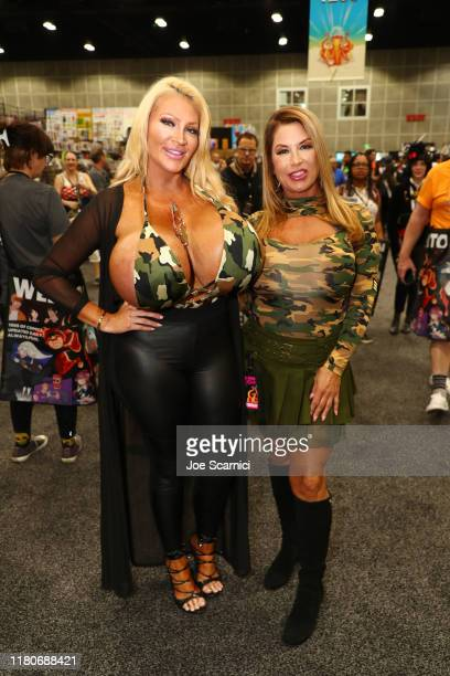 Allegra Cole and Mary Elizabeth dressed as Allegra's Army attend 2019 Los Angeles ComicCon at Los Angeles Convention Center on October 12 2019 in Los...
