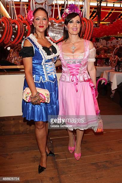 Allegra Curtis an Angelika Zwerenz attend the 'Sixt Damen Wiesn' at Marstall tent during Oktoberfest at Theresienwiese on September 22 2014 in Munich...
