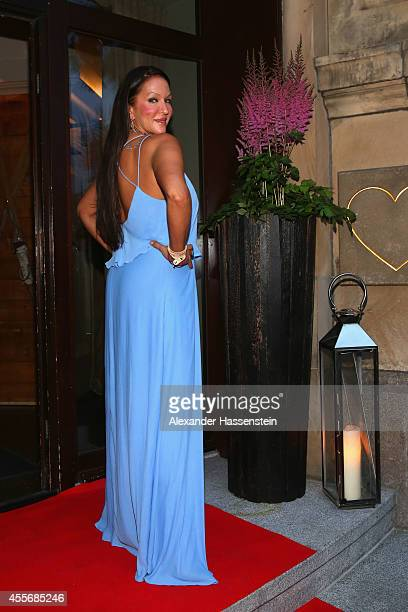 Allegra Curtis arrives for the Getty Images Hearts You event at Heart on September 18 2014 in Munich Germany