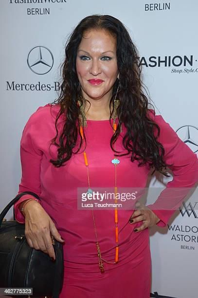 Allegra Curtis attends the Minx by Eva Lutz show during MercedesBenz Fashion Week Autumn/Winter 2014/15 at Brandenburg Gate on January 15 2014 in...