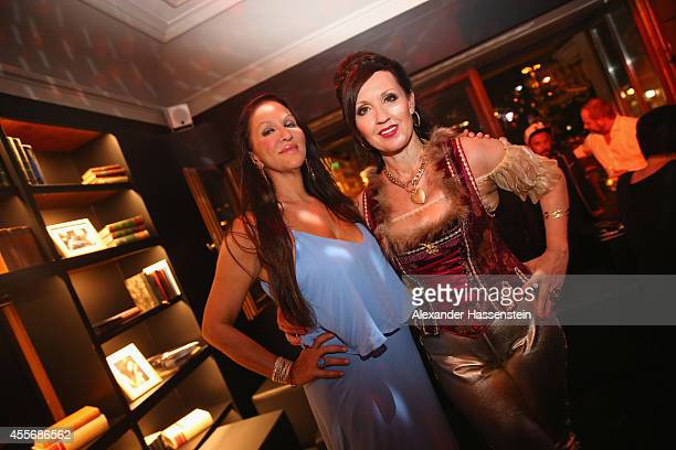 Allegra Curtis attends with Angelika Zwerenz the Getty Images Hearts You event at Heart on September 18 2014 in Munich Germany