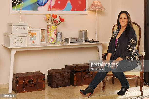Allegra Curtis poses for a picture during a portrait session at her home on December 13 2012 in Palma de Mallorca Spain