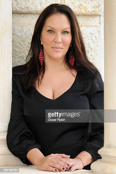 Allegra Curtis poses for a picture during a portrait session at Hotel Maricel on December 13 2012 in Palma de Mallorca Spain