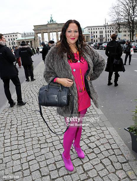 Allegra Curtis sighting during MercedesBenz Fashion Week Autumn/Winter 2014/15 at Brandenburg Gate on January 15 2014 in Berlin Germany